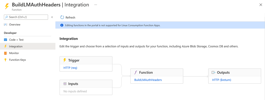 Azure Function Integration Example